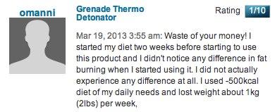 Grenade Thermo Detonator complaints