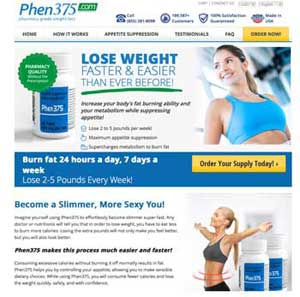Phen375 website for the UK