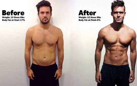 Spencer Matthews before and after with Forza T5 Super Strength