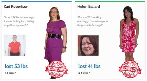 Proactol XS weight loss challenge
