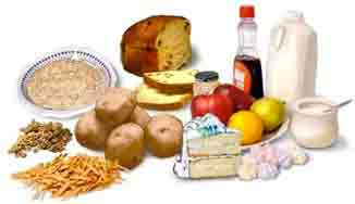 Food high in carbohydrates
