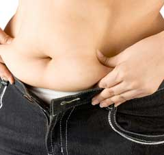 fat stomach through eating too many carbs