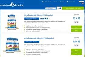 Evo Slimming website