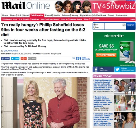 Phillip Schofield diet