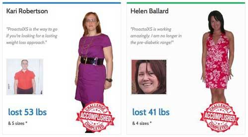 Proactol XS weight loss challenge