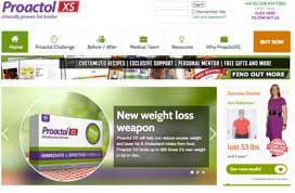 ProactolXS website