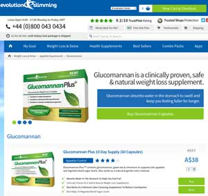 Glucomannan Plus from Evolution Slimming