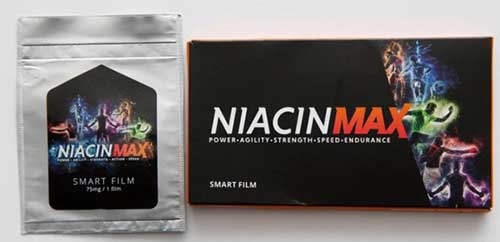 Niacin Max strips on the tongue