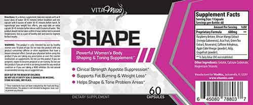 Vitamiss Shape Label